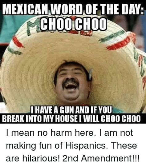 Origin Of The Word Meme - mexican word of the day choolchoo have a gun and if you