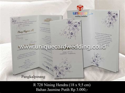 Undangan Pernikahan Wedding Invitation undangan pernikahan nining hendra unique card wedding invitation produk