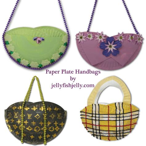 Craft Paper Plates - paper plate handbags family crafts