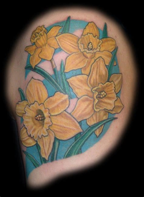 april birth flower tattoo daffodils flower