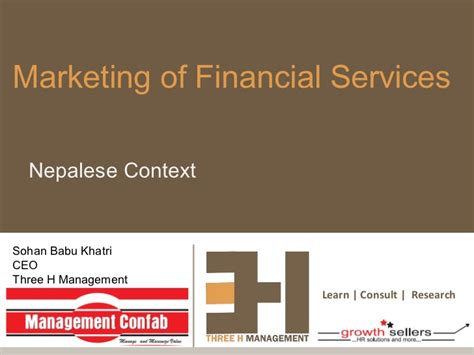 Marketing Financial Service marketing of financial services nepalese context