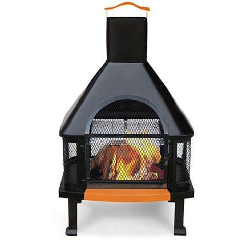 uniflame outdoor fireplace pit black copper