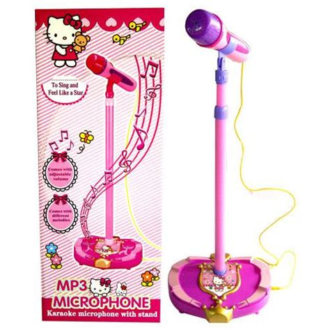Mainan Anak Kreatiif Microphone Frozen Mp3 hello frozen adjustable mp3 karaoke microphone with