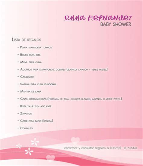 romina tauri 225 n tarjetas y lista de regalos baby shower