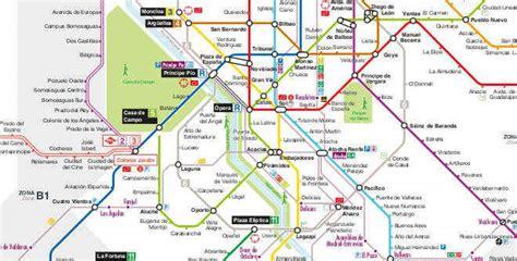 plano metro de madrid madrid metro map