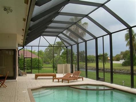 screen patio pool enclosure photos tropical pool