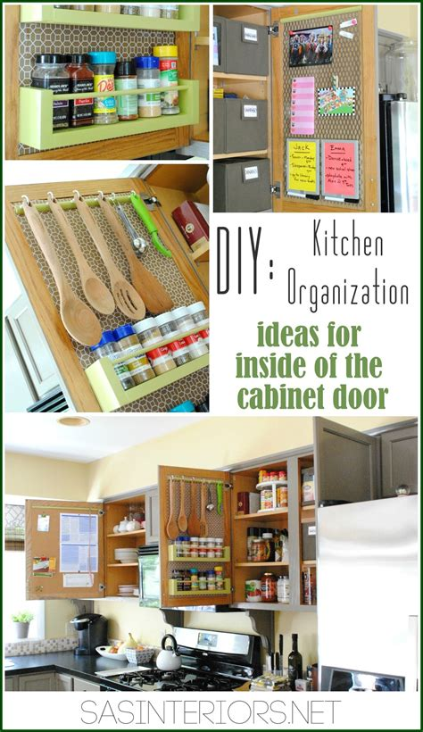 cabinet door storage ideas kitchen organization ideas for the inside of the cabinet