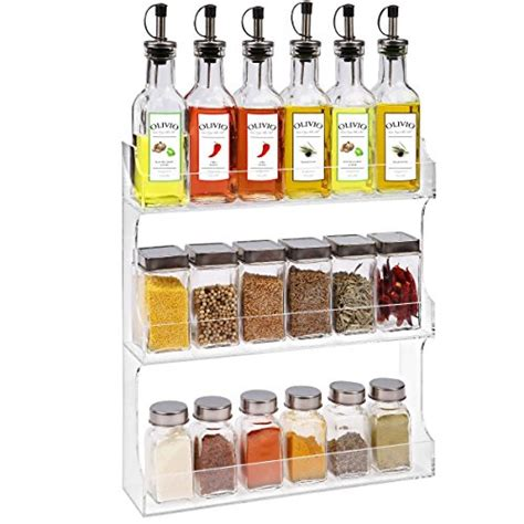 Acrylic Spice Rack by 3 Tier Clear Acrylic Nail Organizer Wall Mount