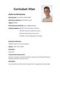 Plantilla De Cv Bã Sico Experiencia Curriculum Plantilla Guille