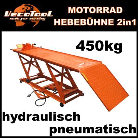 Motorradhebeb Hne L by Motorradhebeb 220 Hne Pneumatisch Hydraulisch 450 Kg
