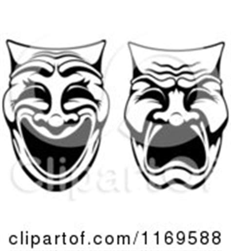 black and white drama pin drama masks clipart picture on pinterest