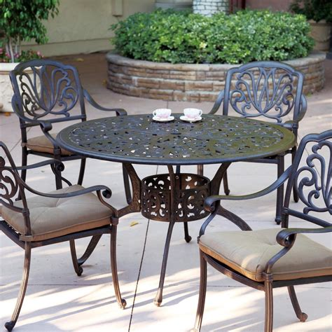 Cast Aluminum Patio Dining Set Darlee Elisabeth 5 Cast Aluminum Patio Dining Set Shopperschoice