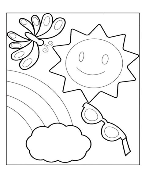 printable coloring pages for summer summer coloring pages 360coloringpages