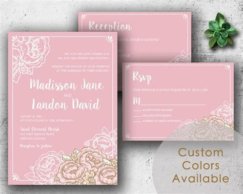 printable wedding invitations country printable wedding invitations rustic floral wedding