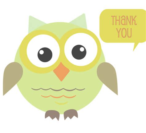 owl thank you card template free printable graduation thank you card template