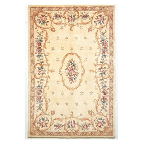 Kas Rugs Classy Aubusson Ivory 3 Ft 3 In X 5 Ft 3 In 3 Ft Rug
