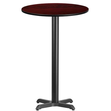 X Bar Table Flash Furniture 24 Mahogany Laminate Table Top With 22 X 22 Bar Height Table Base