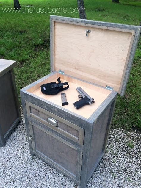 custom built nightstand  hidden gun storage built