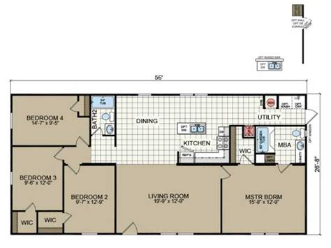 redman manufactured homes floor plans redman homes rm2856c model home