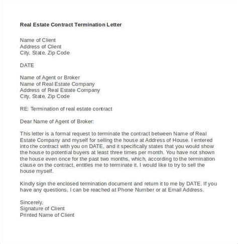 sample termination letter template 33 free word pdf documents
