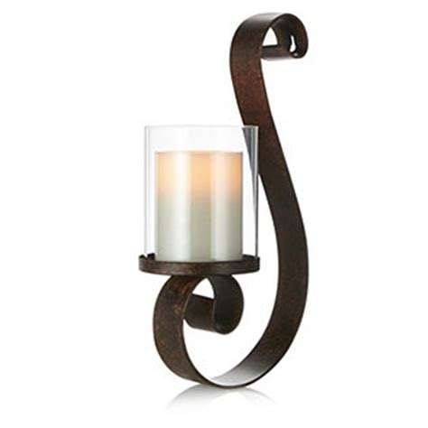 Flameless Wall Sconces Notte Wall Sconce With Flameless Candle 701999 Qvcuk