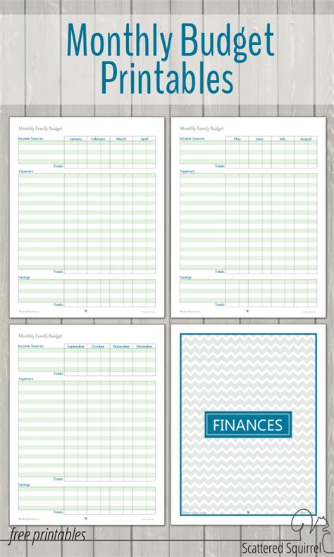 budget book template monthly family budget printables