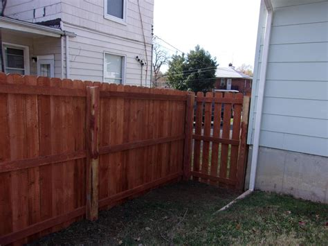 wood fence installation st louis picket privacy fences