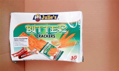 Biskuit Mentega Julie S Butter Crackers julie s butter crackers 250 gram toko alat sembahyang kian zhuan