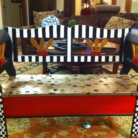 hand painted bench 17 best images about painted benches on pinterest orange chairs hand painted chairs