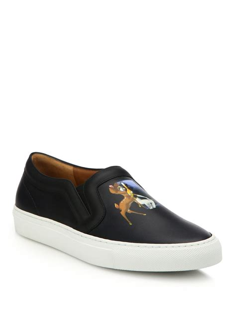 s givenchy sneakers lyst givenchy leather skate sneakers in black