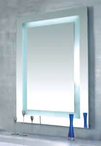 Bathroom Lighted Mirrors Plaza Dimmable Lighted Mirror By Edge Lighting Contemporary Bathroom Mirrors Other Metro