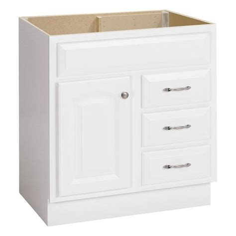 shop project source white bathroom vanity common 30 in x