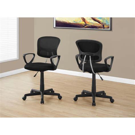 monarch black multi position kids office chair i 7260
