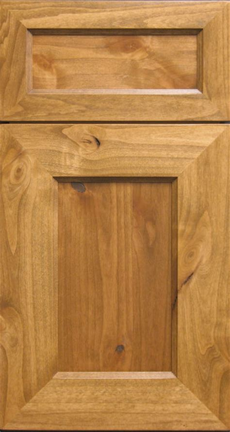 Rustic Kitchen Cabinet Doors Knotty Alder Shaker Style Mitered Cabinet Door Drawer Rustic Kitchen Cabinetry Other