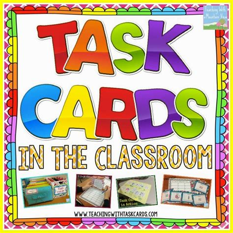 Task Card Corner Early Finisher Task Cards Beyond Busy Work Task Card Template 2