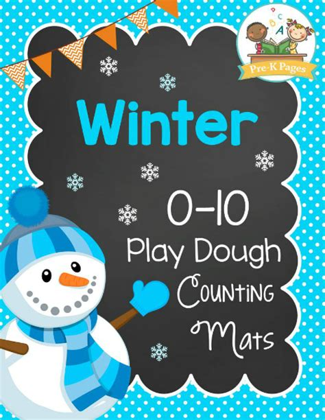 printable winter playdough mats winter play dough counting mats pre k pages