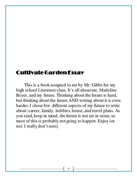 Gardening Essay Cultivate Garden Essay