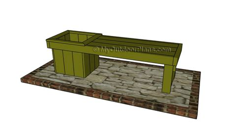 planter bench plans planter bench plans myoutdoorplans free woodworking plans and projects diy shed