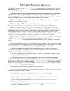 Free Independent Contractor Agreement Template Best Photos Of Contractor Agreement Form Template
