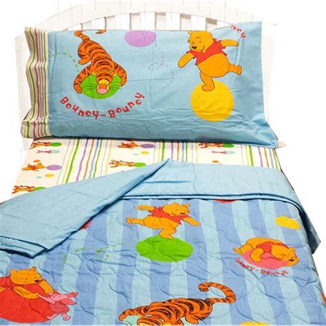 winnie the pooh toddler bedding disney winnie pooh toddler bedding set 4 pieces tigger bouncy bed contemporary