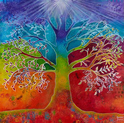 design art lifestyle chakra tree of life art print susan farrell art