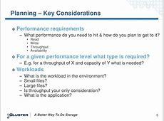 Planning – Key Considerations Performance Gfs2