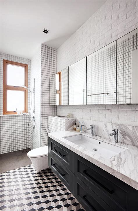 pattern tiles singapore create visual drama with black and white floors home