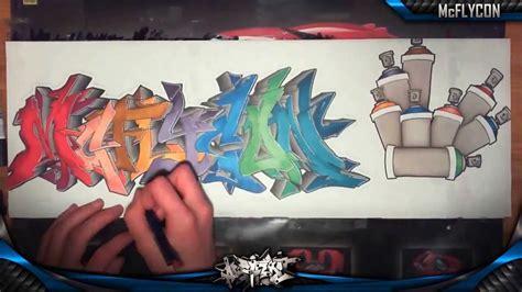 wildstyle graffiti speed drawing sur papier mcflycon