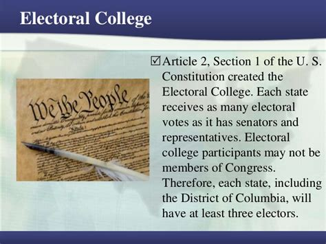 section 2 of the constitution electoral college article 2 section