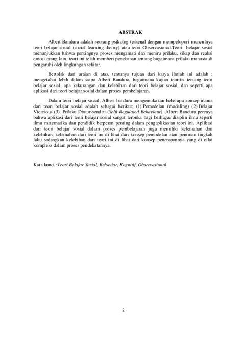 Teori Sosial 2 teori belajar sosial albert bandura