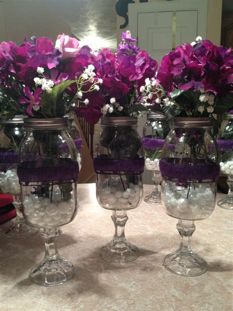 quot redneck wine glass quot flower vases centerpieces for my