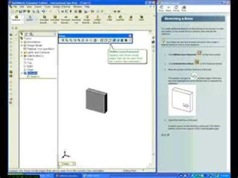 solidworks tutorial lesson 1 solidworks tutorials lesson 1 part 3 youtube
