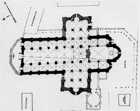 Floor Plan by Piacenza Duomo Cathedral Floor Plan