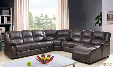 bonded leather sectional with chaise brown bonded leather reclining sectional w chaise